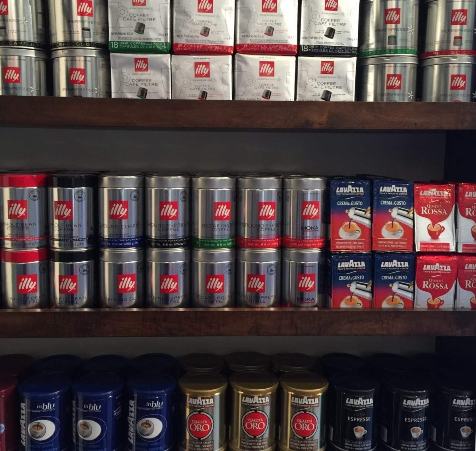 It's Italian sells Italy's popular Illy and Lavazza coffee in Austin