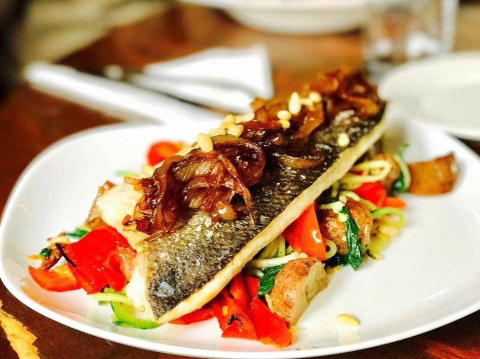 NYC Italian Food | Mediterranean Sea Bass - Acqua at Peck Slip