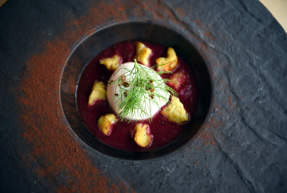 Green Fig Burrata & Beet Soup 2 by Michael Tulipan