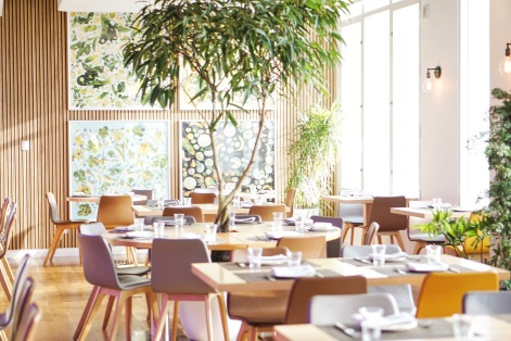 Green Fig Dining Room 1 with tree by @RatedRuwan